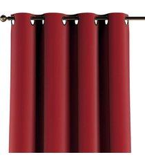 zasłona na kółkach velvet czerwony 130x260cm