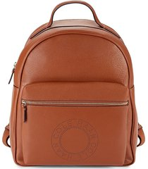 cole haan women's logo leather backpack - british tan