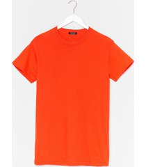 face the facts relaxed tee - orange