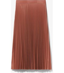 proenza schouler white label faux leather pleated skirt blush/brown 2