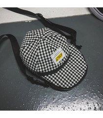 sombrero de estilo coreano forma mini bolsa oxford mujer solo hombro bolsa crossbody lattice