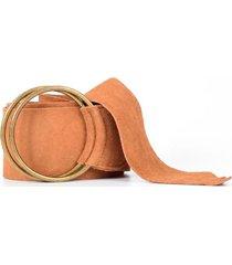 cinturon faja reno hebilla camel mailea
