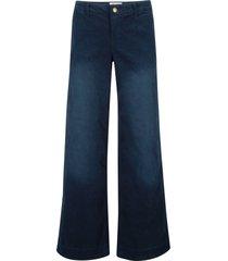 pantaloni di velluto elasticizzato wide (blu) - john baner jeanswear