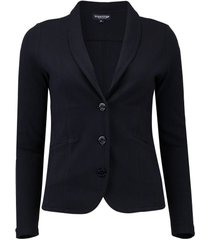 blazer jersey long navy
