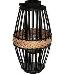 lampion bambusowy lind black