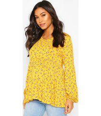 maternity ditsy smock top