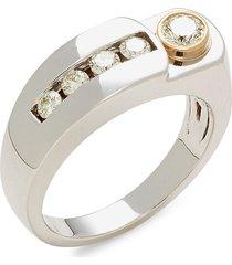 effy men's 14k two-tone gold & diamond ring - size 10