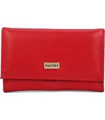 billetera grande 052 cuero rojo