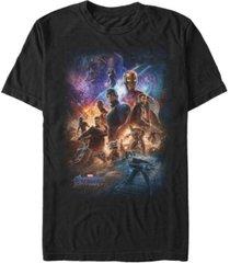 marvel men's avengers endgame galaxy group shot poster short sleeve t-shirt