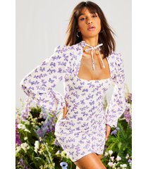 butterfly high neck mini dress, lilac