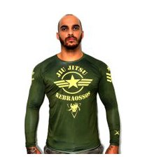 rash guard kebraossos war collection verde militar