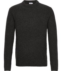 m. tobias sweater stickad tröja m. rund krage grå filippa k