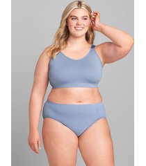 lane bryant women's ribbed seamless bralette with strappy back 22/24 country blue