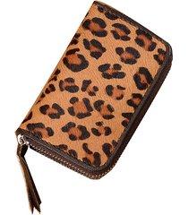 leopard vera pelle portamonete portamonete per donna