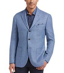 joseph abboud indigo blue blue tic slim fit sport coat