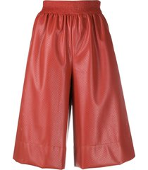 cédric charlier wide-leg culotte shorts - red