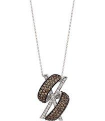 le vian women's 14k vanilla gold®, chocolate diamond® & vanilla diamond® pendant necklace