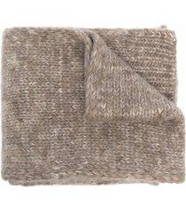 maison margiela ribbed trim scarf