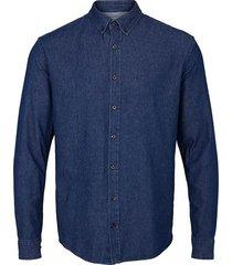 kronstadt johan denim shirt ks3036 dark blue