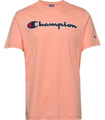 crewneck t-shirt t-shirts short-sleeved rosa champion