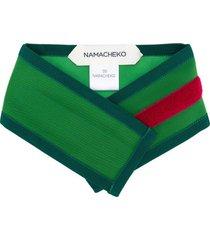 namacheko quilted touch strap scarf - green