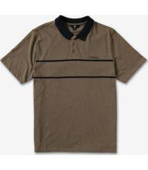 volcom men's atwall short sleeve polo t-shirt