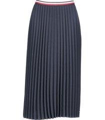 tommy hilfiger crepe pleated skirt