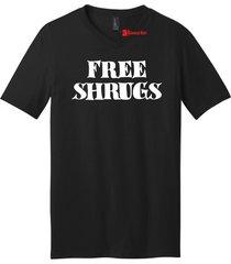 free shrugs mens v-neck tee