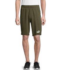 puma men's cotton-blend shorts - green - size m