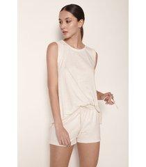pijama short y camiseta m sisa en algodón lurex1557011m