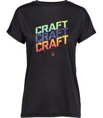 eaze ss logo mesh tee t-shirts & tops short-sleeved svart craft