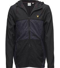 full zip windbreaker hood outerwear sport jackets svart lyle & scott sport