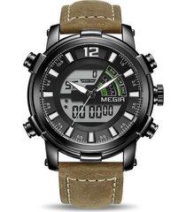 reloj digital de doble pantalla para hombre reloj deportivo de cuarzo analógico relojes de pulsera del ejército