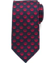 men's cufflinks, inc. star wars rebel symbol silk tie, size regular - red