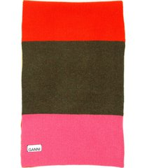 ganni multicolor striped scarf