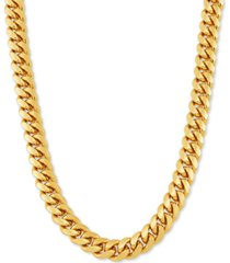 """cuban link 26"""" chain necklace in 18k gold-plated sterling silver"""