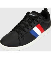 tenis lifestyle negro-azul-blanco le coq sportif courtclassic flag