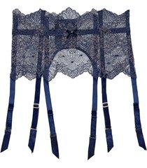 lurex lace suspender belt