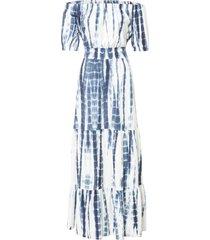 abito batik con spalle scoperte (bianco) - bodyflirt