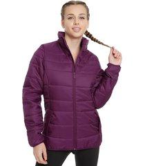 parka puma essentials padded jacket w morado - calce ajustado