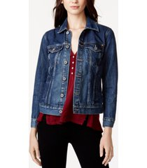 lucky brand cotton denim trucker jacket
