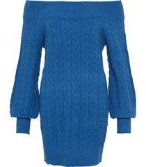maglione lungo con spalle scoperte (blu) - bodyflirt
