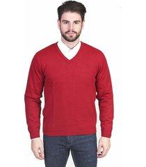 suéter  malhas g'dom gola v liso tomate - kanui