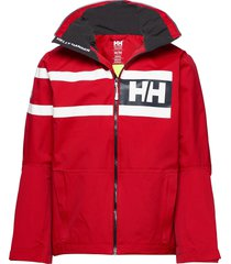 salt power jacket tunn jacka röd helly hansen