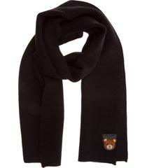 moschino teddy wool scarf