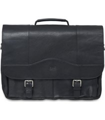 mancini buffalo collection porthole laptop/ tablet briefcase