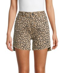 dl1961 women's hepburn leopard-print shorts - catwalk - size 23 (00)