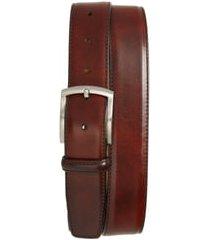 men's magnanni tanner leather belt, size 36 - tobacco