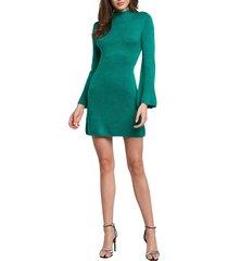 women's bardot tash sweater dress, size medium - green