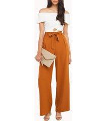 wide leg chiffon waist trousers palazzo ol pants long culottes pants size s-2xl